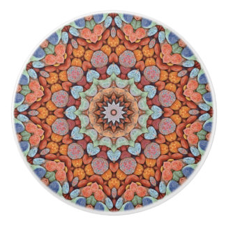 Rocky Roads  Colorful Ceramic Knob