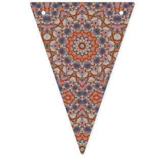 Rocky Roads Vintage Kaleidoscope   Bunting Flags