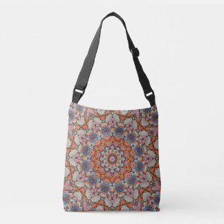 Rocky Roads Vintage Kaleidoscope  Cross Body Bag