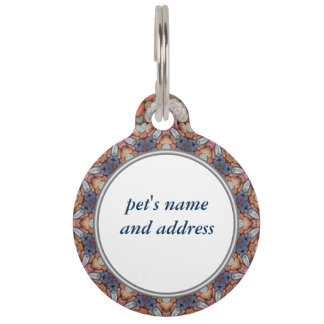 Rocky Roads Vintage Kaleidoscope   Dog Cat Tags