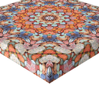 Rocky Roads   Vintage Kaleidoscope Wrapped Canvas