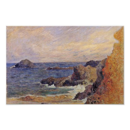 Rocky Sea Coast By Paul Gauguin (Best Quality) Posters