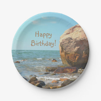 Rocky Seashore Paper Plate