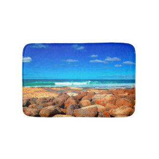 Rocky Seaside Bath Mat