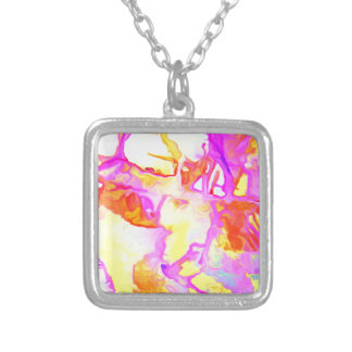 Rocky Shore at Sunrise Silver Plated Necklace