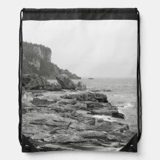 Rocky Shore Drawstring Backpack