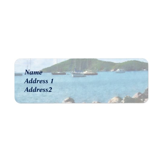 Rocky Shore St. Thomas Save the Date Return Address Label