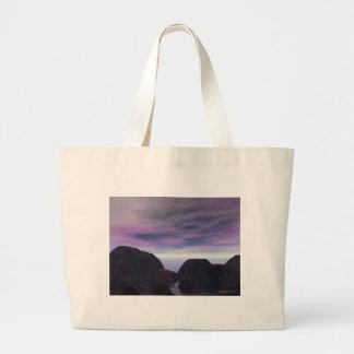 Rocky Shore Sunset Jumbo Tote Bag