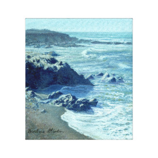"""""""Rocky Shoreline"""" Gallery Wrapped Canvas Print"""