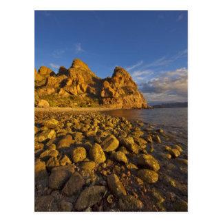 Rocky shoreline on Isla Carmen in the Gulf of Postcard