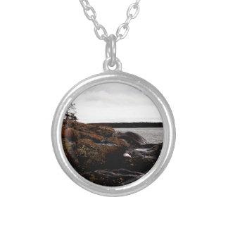 Rocky Shoreline Silver Plated Necklace