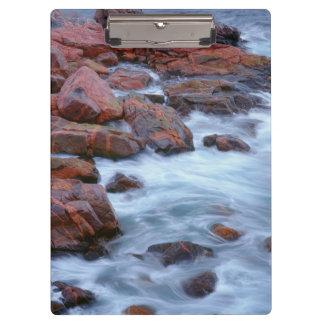 Rocky shoreline with water, Canada Clipboard