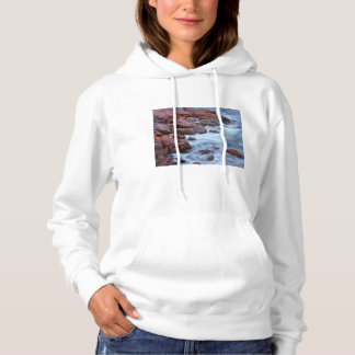 Rocky shoreline with water, Canada Hoodie