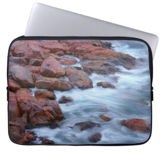 Rocky shoreline with water, Canada Laptop Sleeve