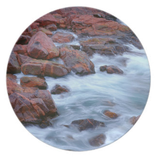 Rocky shoreline with water, Canada Plate
