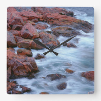 Rocky shoreline with water, Canada Square Wall Clock