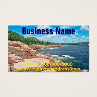 Rocky Summer Seascape Acadia National Park Maine Business Card
