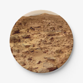 Rocky Surface of Planet Mars 7 Inch Paper Plate