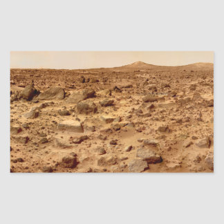 Rocky Surface of Planet Mars Rectangular Sticker