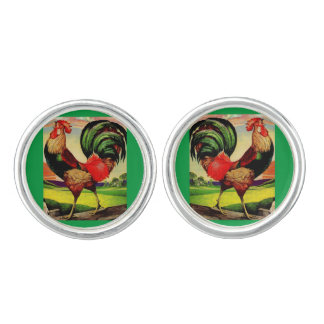 Rocky the Handsome Rooster Cuff Links