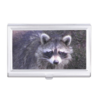 Rocky the Raccoon Business Card Holder