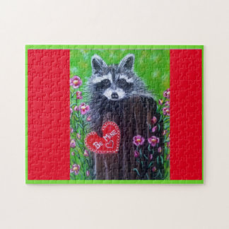 Rocky the Raccoon Paper Valentine Puzzle