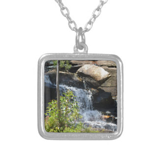 Rocky Waterfall Silver Plated Necklace