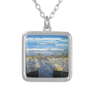 Rocky York Beach Access Silver Plated Necklace