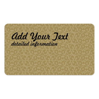 Rococo brown pack of standard business cards