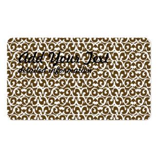 Rococo brown white business card