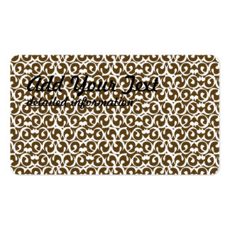 Rococo brown white pack of standard business cards