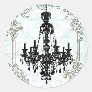 rococo chandelier round sticker