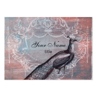 Rococo French Peacock in Pink & Blue Business Card