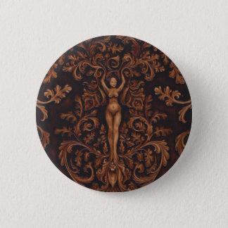 Rococo Goddess Button Pin