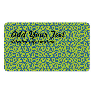 Rococo green blue pack of standard business cards