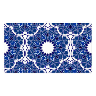 Rococo Indigo Beautiful Pack Of Standard Business Cards