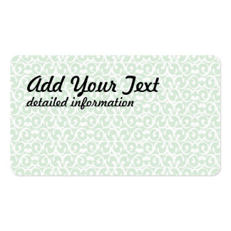 Rococo mint white business card template
