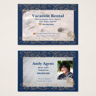Rococo Nautical Beach Rental Agent Business Card