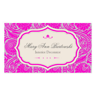 Rococo Ornate Elegant Pink Pack Of Standard Business Cards