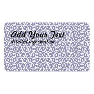 Rococo purple white business card templates