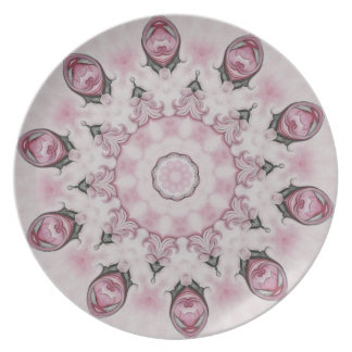 Rococo Red and Pink Rosette No. 95 Plate