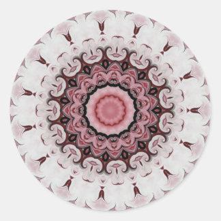Rococo Rred Rosette No. 104 Round Sticker