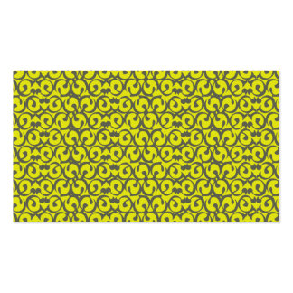 Rococo yellow pack of standard business cards