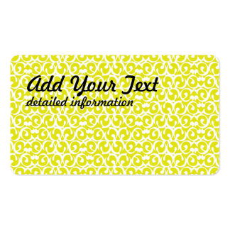 Rococo yellow white business cards