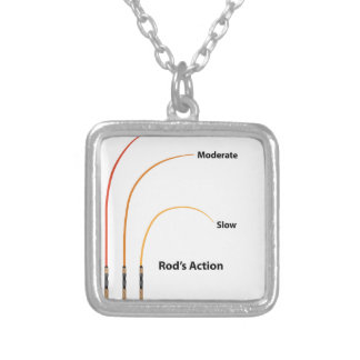 Rod action diagram characteristics vector illustra silver plated necklace
