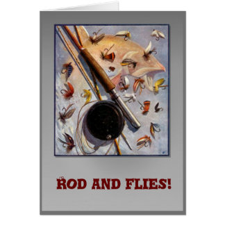 Rod and flies card
