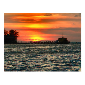 Rod and Reel Pier at Sunset Postcard