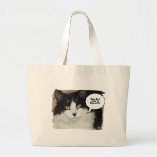 Rod Blagojevich Cat Humor Jumbo Tote Bag