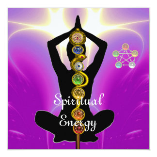 ROD OF ASCLEPIUS 7 CHAKRAS,YOGA LOTUS POSE Pink Card