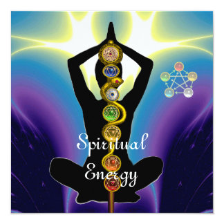 ROD OF ASCLEPIUS 7 CHAKRAS,YOGA LOTUS POSE Purple Card